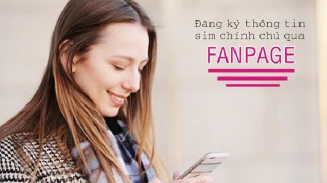 Đăng ký sim chính chủ vinaphone qua fanpage